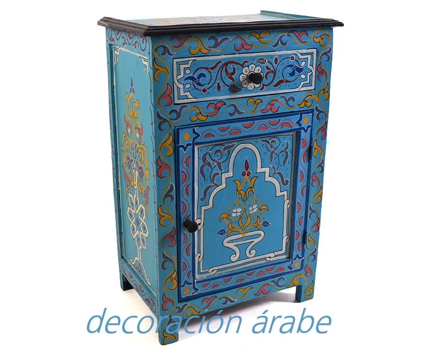 Mesita noche marroqu varios colores decoraci n y for Muebles marroquies online