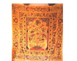 Colcha naranja de india árbol del paraiso