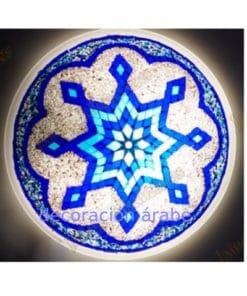 plafón aplique turquís cristal