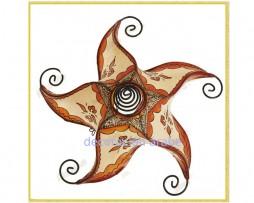 Plafón árabe marroquí piel pintada y hierro, espiral