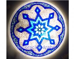 Azul Plafón o aplique de cristal de murano, azul