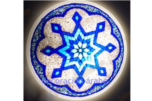 Plafón o aplique turco azul