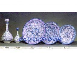 platos botellas cerámica árabe andaluza