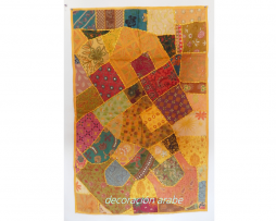tapiz india patchwork amarillo