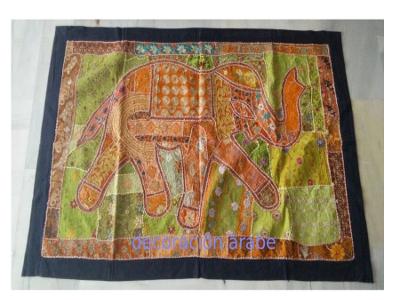 tapiz pared elefantes India