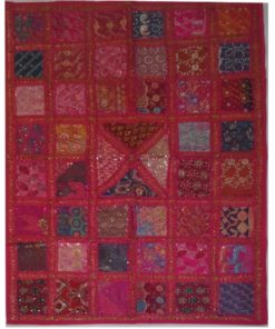 tapiz india patchwork fusia