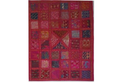 tapiz india patchwork fusia