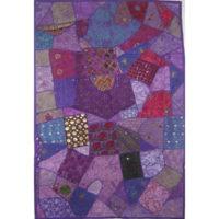 Tapiz indio morado patchwork