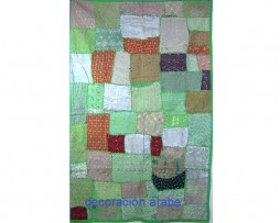 Tapiz indio patchwork color verde