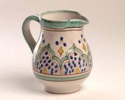 Lechera de cerámica andalusí, color verde