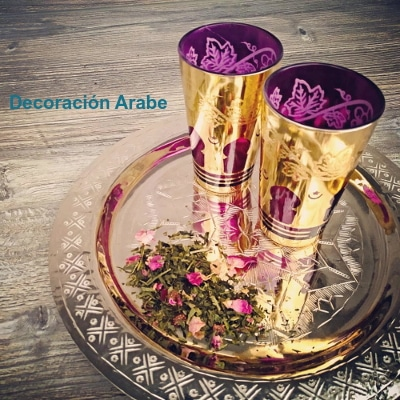vasos té orientales arabes