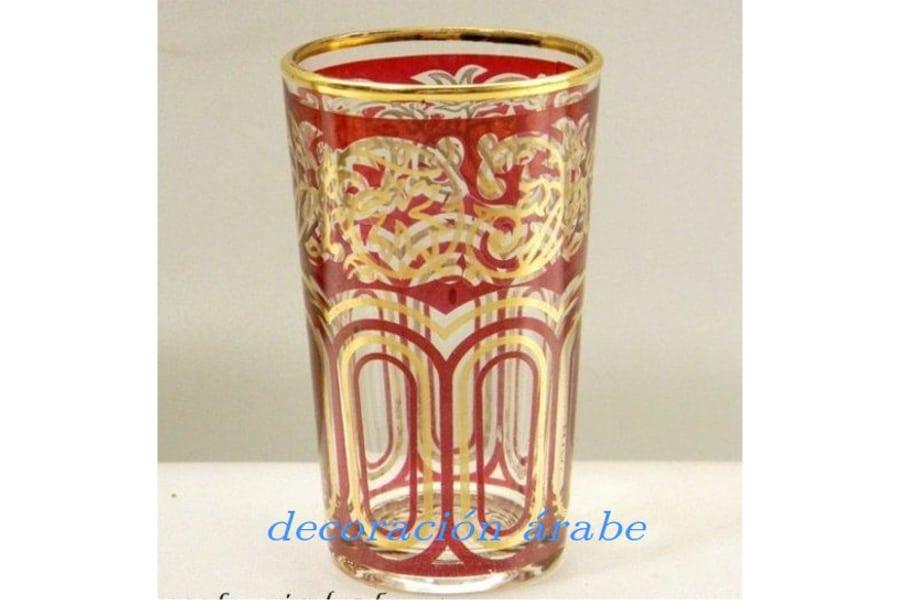 Juego de vasos rabes para el t de color rojo for Vasos de te