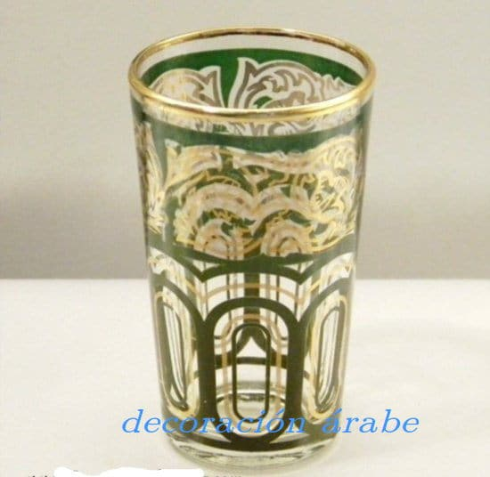 Juego de 6 vasos rabes de color blanco for Vasos de te