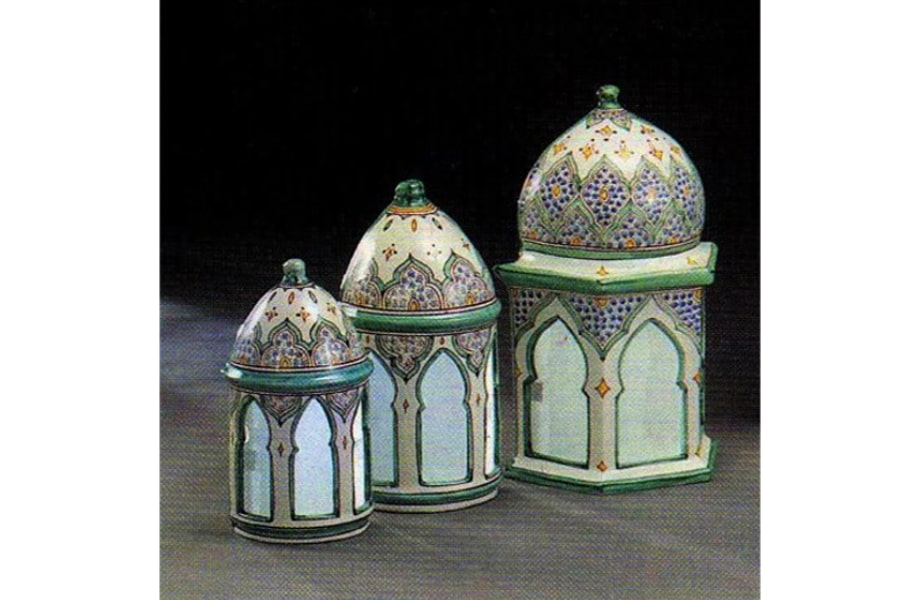 Apliques de pared de cer mica rabe andalus de distintos tama os - Apliques arabes ...