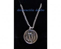 Colgante Alláh y cadena plata