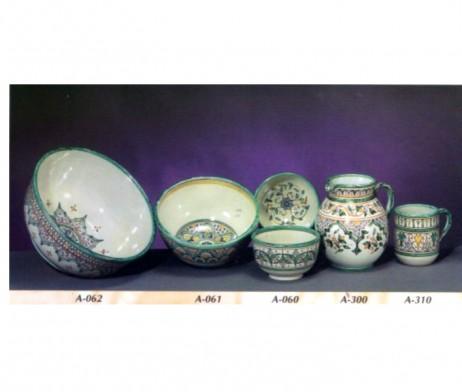 Cuencos de cerámica árabe andaluza