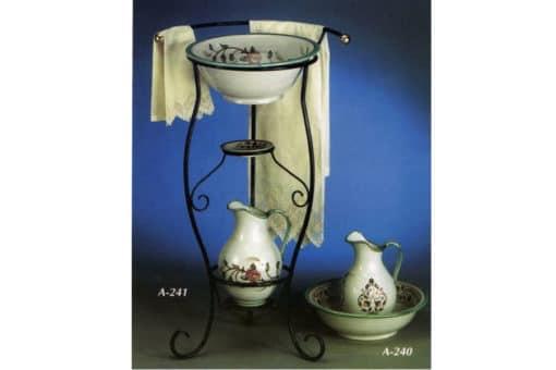 palancana y jarrón cerámica andaluza