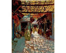Calle de los Babucheros, Tetuán, Marruecos, Mariano Bertuchi,