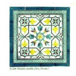 Azulejo árabe andaluz, modelo Sevilla