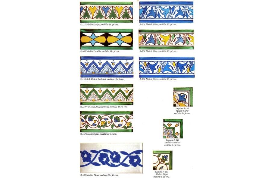 Azulejos para ba o artesanales - Cenefas para azulejos ...