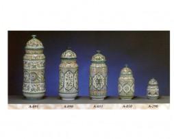 Albarelos, tarros, especiero, cerámica árabe andalusí