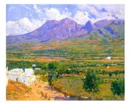 Póster de Mariano Bertuchi, Afueras, Tetuán, Marruecos