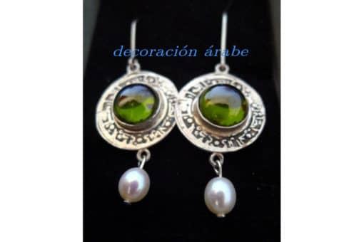 Pendientes dirham bocelado en plata decoraci n y - Artesania y decoracion ...