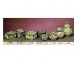 Cajitas y tarros de cerámica arábigo y andaluza