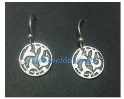 Pendientes de plata de ley con motivo floral de la Alhambra
