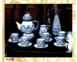 Juego té azul, cerámica andalusí