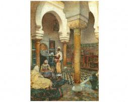 Escena de una casa de la Medina, Marruecos