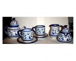 Juego de té pequeño, cerámica andalusí