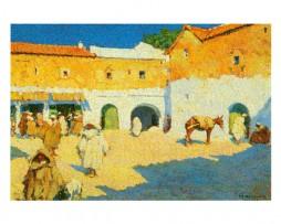 Mariano Bertuchi: Plaza de Chauen, Marruecos