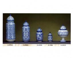 Tarros cerámica árabe andalusí azul