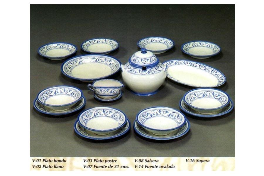 Vajilla de cer mica rabe andalus decoraci n y for Vajilla ceramica
