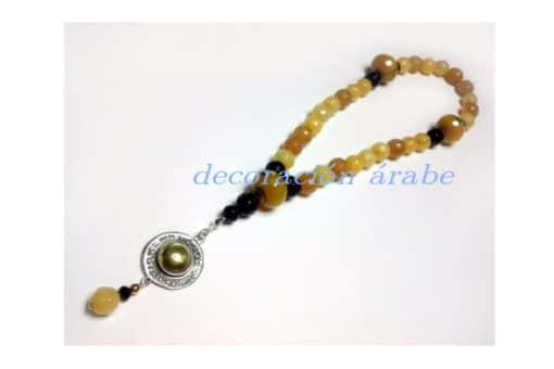 pulsera árabe plata y gemas