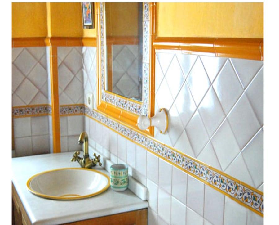 Cuarto de ba o de cer mica rabe andaluza - Cuartos de bano azulejos ...