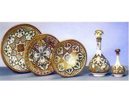 Cerámica árabe nazari platos botellas