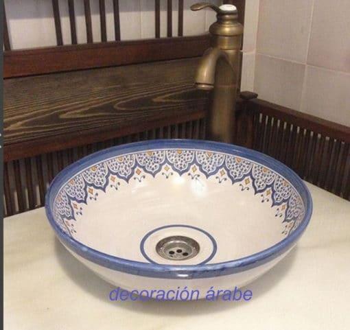 lavabo cerámica andaluza árabe