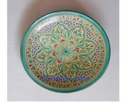 plato cerámica andalusí verde
