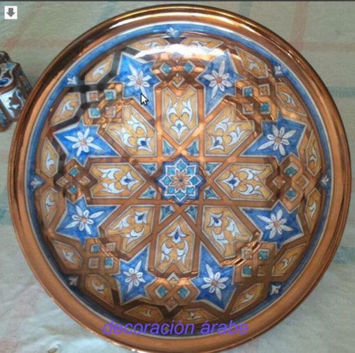 plato cerámica andaluza nazarí