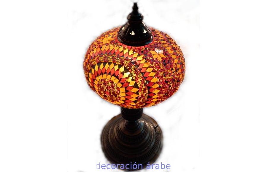 L mpara de turqu a de cristal de murano para mesa - Lamparas granada ...