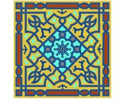 Mandala de geometría sagrada Islámica 1