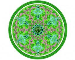 05_mandala_i043 Mandala de geometría sagrada, verde 6