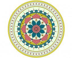Mandala de geometría sagrada Floral 5