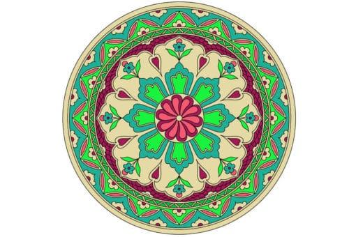 Mandala de geometría sagrada Islámica 4