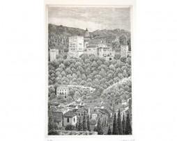 Juan luís Lirio: Grabado desde San Nicolas, Granada