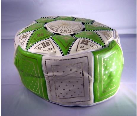 Puff marroquí verde