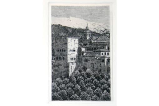 Grabado alhambra, Torre de Comarex
