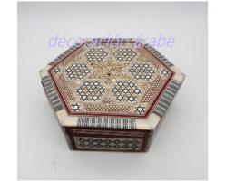 caja taracea Egipto exagonal